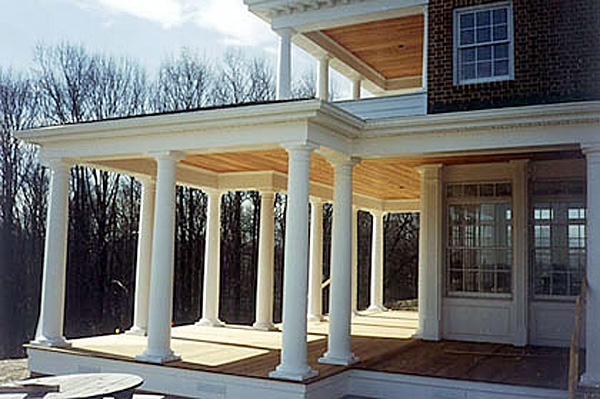 Round fiberglass porch columns curb appeal products for Fiberglass interior columns