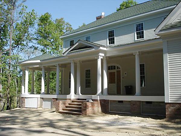 Porch Columns Product : Round fiberglass porch columns curb appeal products