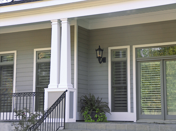 Square fiberglass porch columns curb appeal products for Porch column styles