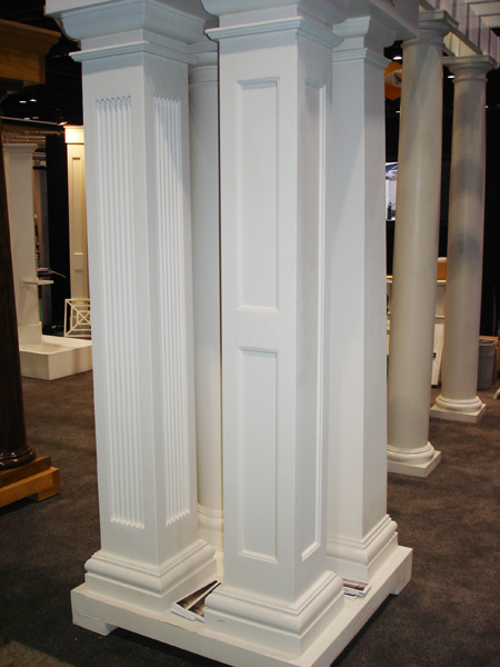 Square fiberglass porch columns curb appeal products for Fiberglass interior columns