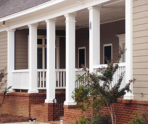 Square House With Columns : Square fiberglass porch columns curb appeal products