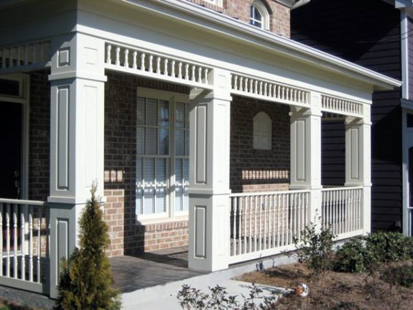 Square House With Columns : Non tapered pvc porch columns curb appeal products
