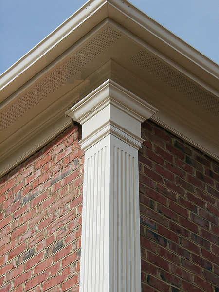 Fluted pvc pilaster for Tapered porch columns