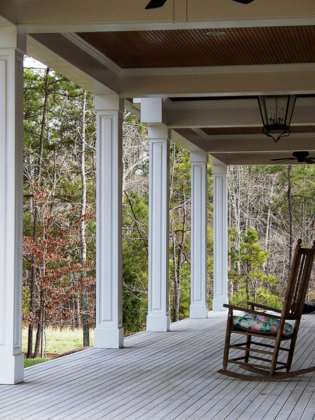 Non Tapered Pvc Porch Columns Curb Appeal Products