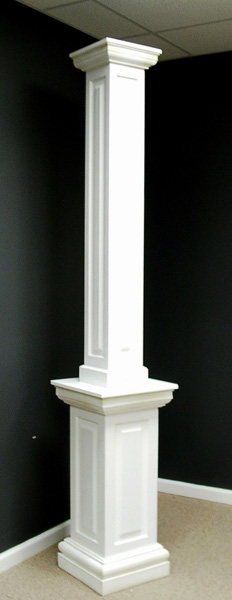 Porch Columns Product : Non tapered pvc porch columns curb appeal products
