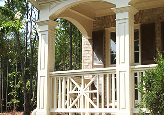 Paneled Square Pvc Porch Columns