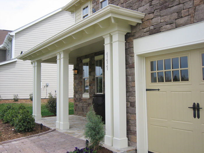 Non tapered pvc porch columns curb appeal products for Exterior decorative columns