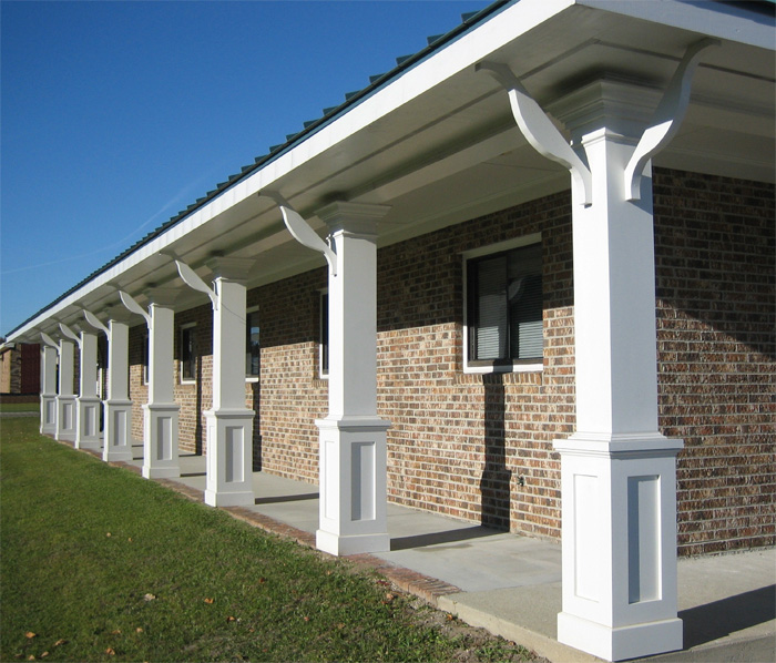 Porch Pillars And Columns : Non tapered pvc porch columns curb appeal products