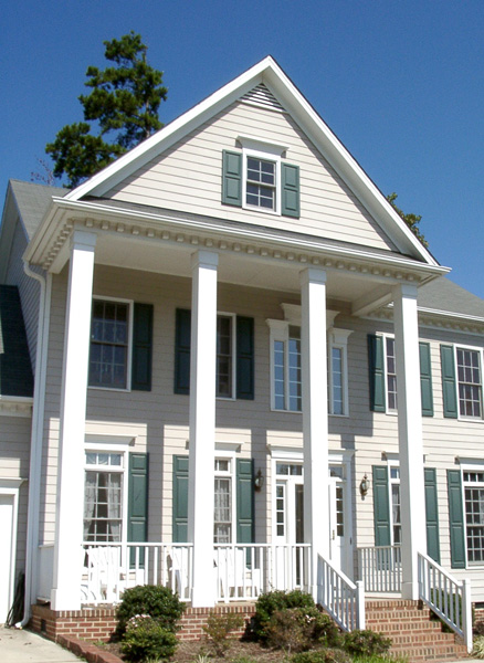 Non tapered pvc porch columns curb appeal products for Tapered porch columns