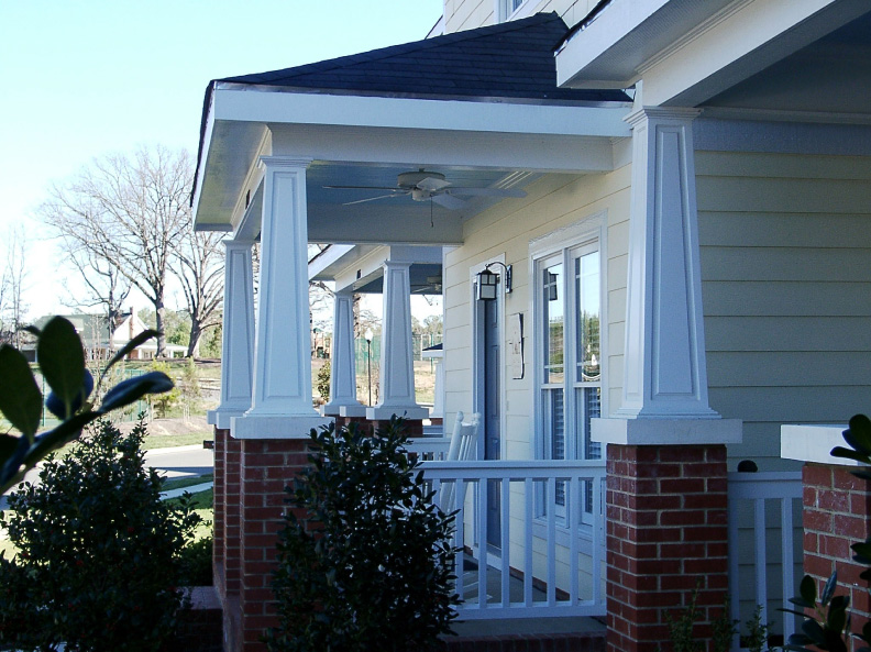 Tapered pvc porch columns curb appeal products for Square porch columns