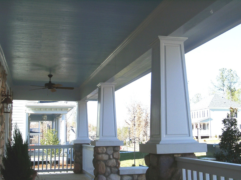 Raised Panel Square Tapered Pvc Porch Columns