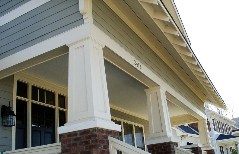 Square House With Columns : Tapered pvc porch columns curb appeal products