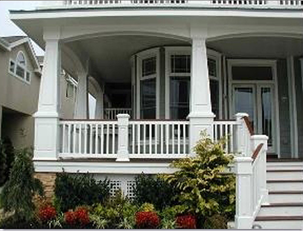 Tapered pvc porch columns curb appeal products for Wrap around porch columns