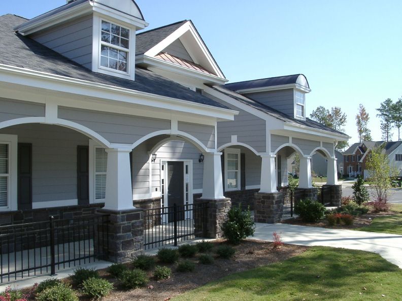 Two craftsman arches sharing a column for Craftsman tapered columns