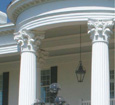 decorative corinthian round columns