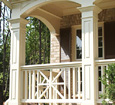 paneled square pvc porch columns