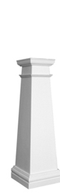 plain craftsman tapered column
