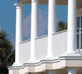 plain round fiberglass porch columns