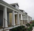 plain square fiberglass porch columns