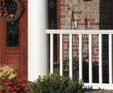 pvc porch railings