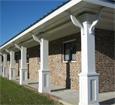 recessed panel pvc porch columns