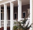 smooth square fiberglass porch columns