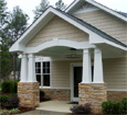 smooth tapered pvc porch column