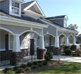 smooth tapered pvc porch wrap