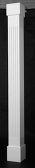 square fluted non tapered pvc porch columns