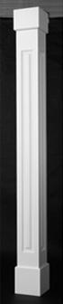 square raised pvc porch columns